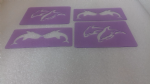 4 x dolphin face painting stencils  reusable many times  dolphins sea ocean fish swimming